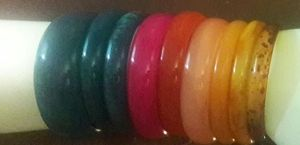 Multiple colored bracelets